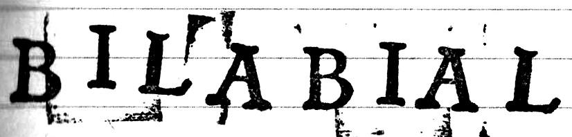 Bilabial