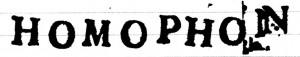 Homophon